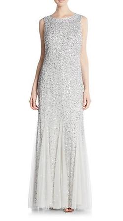 Aidan Mattox  - Sequined Godet Gown