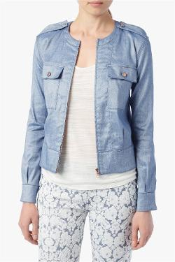 7forallmankind - CARGO BOMBER IN DENIM SHEEN RINSE
