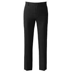 Axist - Slim-Fit Herringbone Easy-Care Flat-Front Dress Pants