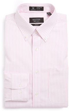 Nordstrom - Wrinkle Free Trim Fit Stripe Dress Shirt