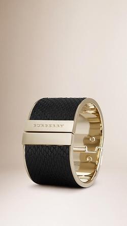 Burberry - Python Cuff Bracelet