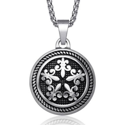 Jewelry 4 Men  - Vintage Style Round Pendant Necklace