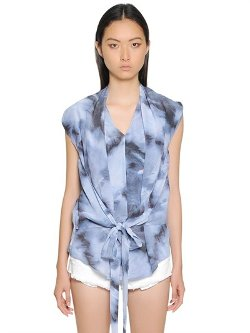 Iro - Printed Silk Crepe De Chine Top