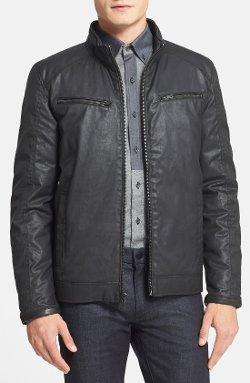 Vince Camuto  - Reversible Coated Moto Jacket
