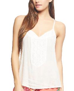 Wet Seal - LACE DETAIL RACER TANK