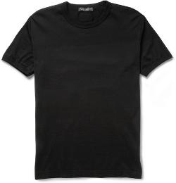 DOLCE & GABBANA   - CREW NECK COTTON-JERSEY T-SHIRT