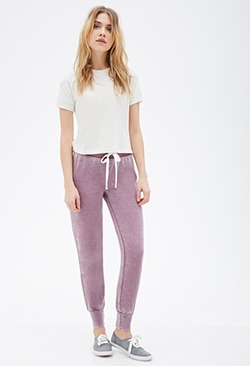 Forever 21 - Faded Drawstring Sweatpants