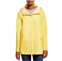 Cole Haan - Water Repellent Hooded Rain Coat