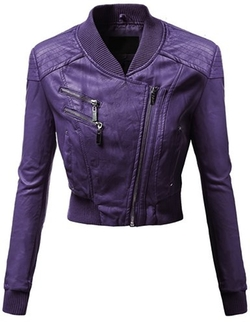Awesome21 - Zipper Motorcycle Biker Faux Leather Jackets