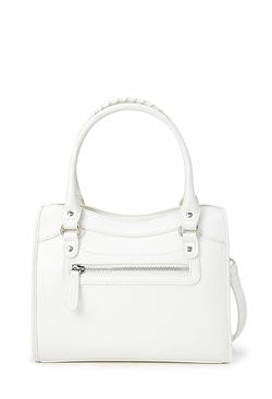 Forever21 - Zippered Faux Leather Satchel