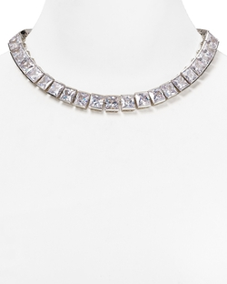 ABS by Allen Schwartz - Square Stone Collar Necklace