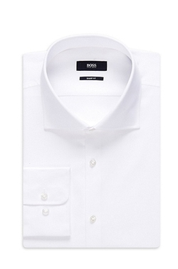 Boss - Cotton Textured Dress Shirt