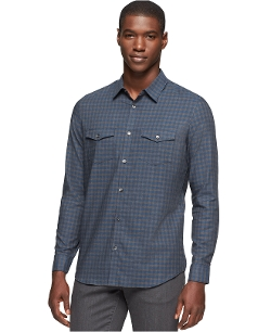 Calvin Klein - Herringbone Gingham Shirt
