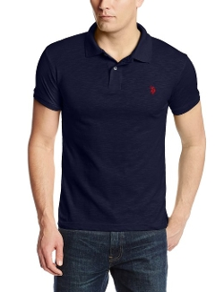 U.S. Polo Assn. - Slim Fit Cotton Slub Solid Polo Shirt