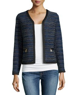 Laundry by Shelli Segal  - Cropped Open-Front Jacket