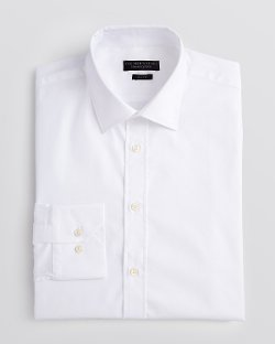Bloomingdale -  Pique Solid Dress Shirt