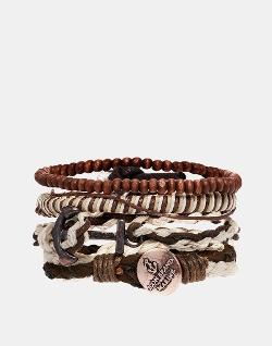 ASOS - Icon Brand Multi Braided Cross Bracelet