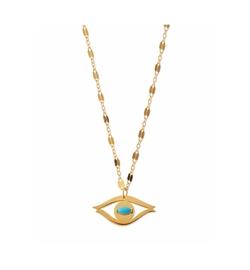 Jennifer Zeuner  - Beyah Turquoise Evil Eye Pendant Necklace