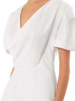 Balenciaga - Open-drape crepe blouse