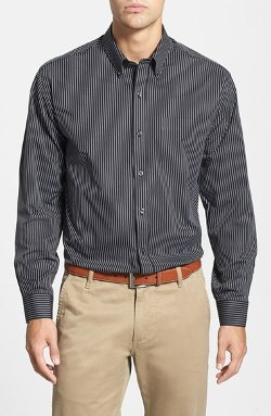 Cutter & Buck - Classic Fit Vertical Pinstripe Shirt