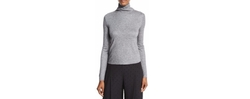See by Chloe - Long-Sleeve Turtleneck Chiffon-Back Top=