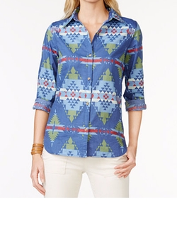 American Living  - Printed Button Down Shirt