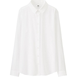 Uniqlo - Rayon Long Sleeve Blouse