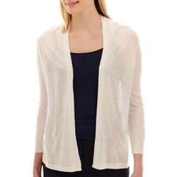 Worthington - 3/4-Sleeve Flyaway Cardigan Sweater