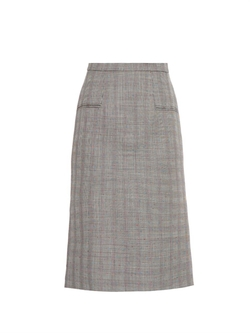 Alexander Mcqueen - Prince Of Wales-Check Pencil Skirt
