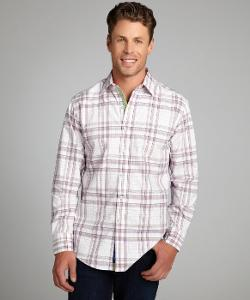 ROBERT GRAHAM - White Lime And Red Plaid