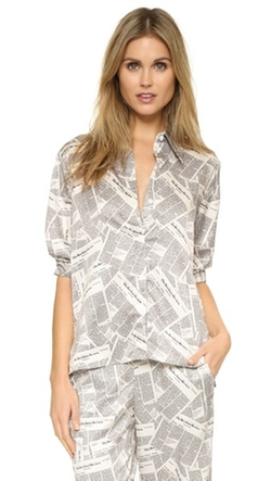 Recliner - Newspaper Point Collar PJ Shirt
