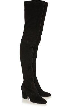 Tamara Mellon  - Dream Stretch-Suede Thigh Boots