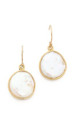 Mary Louise Designs  - Flat Cultured Freshwater Pearl Earrings