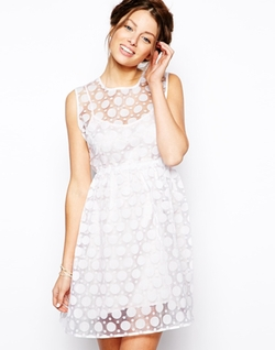 Little White Lies  - Layered Polka Dot Organza Dress