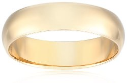 Amazon Curated Collection - 10k Yellow Gold 6mm Wedding Band