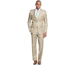 Sean John - Big and Tall Classic-Fit Tan Solid Suit
