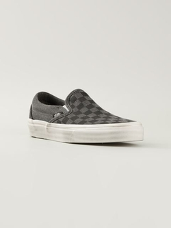 Vans - Checked Slip-On Sneakers