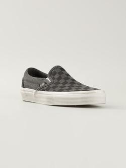 Vans - Checked Slip-On Sneakers