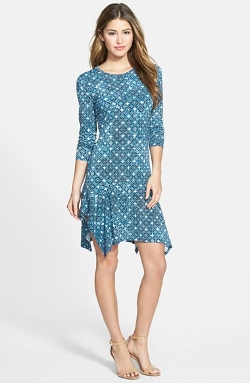Michael Michael Kors - Long Sleeve Drop Waist Dress