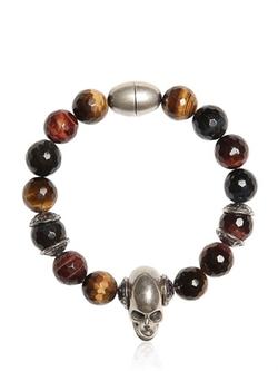 Emanuele Bicocchi  - Quartz Beads & Skull Bracelet