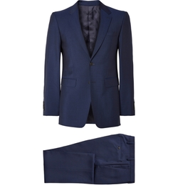 Burberry London - Navy Slim-Fit Wool And Mohair-Blend Suit