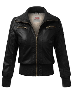 J. Tomson - Faux Leather PU Moto Jacket
