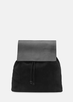 Mango - Lapel Suede Backpack