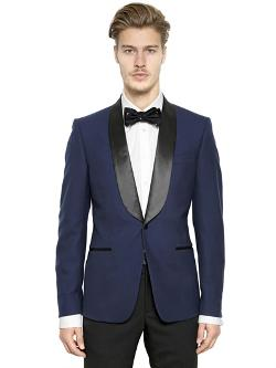 Alexander Mcqueen  - Shawl Collar Wool Tuxedo Jacket