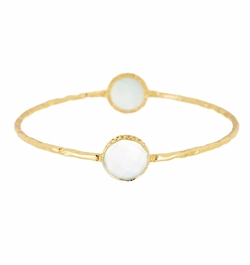 Argento Vivo - Aqua Chalcedony Bangle Bracelet