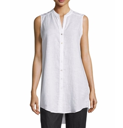 Eileen Fisher  - Sleeveless Linen Tunic Top