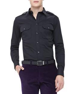 Ralph Lauren Black Label  - Poplin Military Shirt