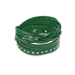 Inspirelista - Multi-Layered Genuine Green Leather Bracelet