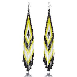 River Island - Yellow Beaded Dangle Earrings
