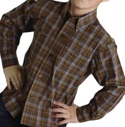 Roper - Cocoa Plaid Button Western Shirt